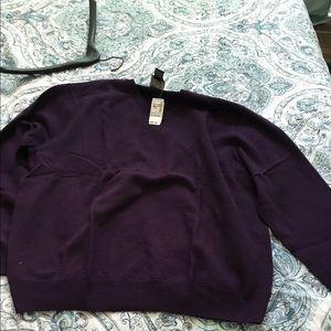 Purple Jos bank sweater
